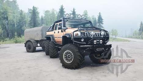 Hummer H2 SUT 6x6 для Spintires MudRunner