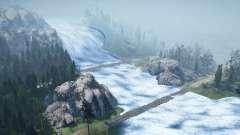 Водопад для MudRunner