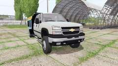 Chevrolet Silverado 2500 HD Crew Cab dump v2.0 для Farming Simulator 2017