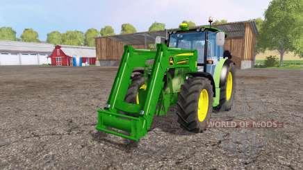 John Deere 6110 RC front loader для Farming Simulator 2015