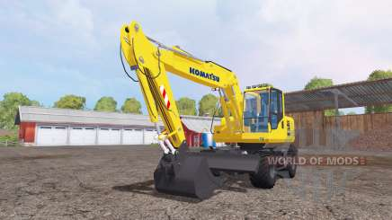 Komatsu PW160-7 для Farming Simulator 2015