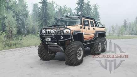 Hummer H2 SUT 6x6 для MudRunner