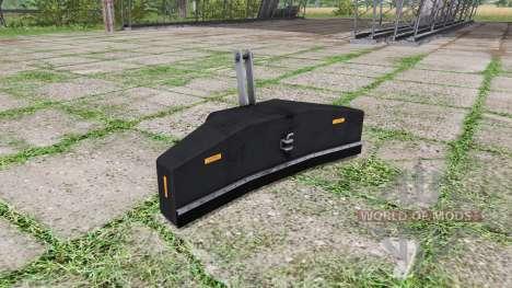 Ballast valve weight v1.2 для Farming Simulator 2017