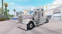 Скин Gray Purple на тягач Kenworth W900