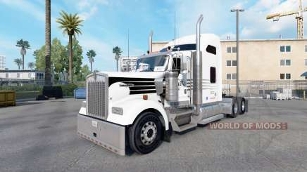Скин Hunt Trucking на тягач Kenworth W900 для American Truck Simulator