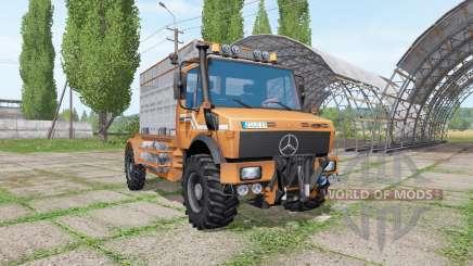 Mercedes-Benz Unimog U1600 cattle transport для Farming Simulator 2017