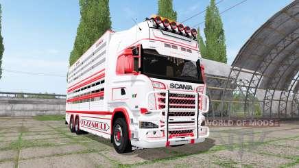 Scania R730 cattle transport v2.2 для Farming Simulator 2017