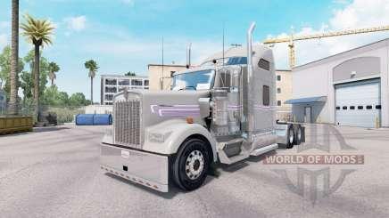Скин Gray Purple на тягач Kenworth W900 для American Truck Simulator