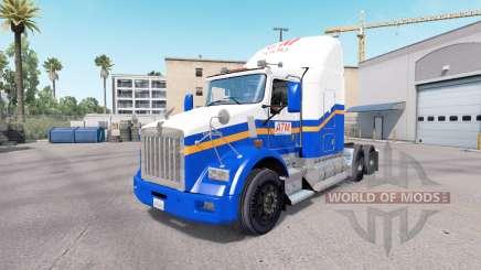 Скин ATM на тягач Kenworth T800 для American Truck Simulator
