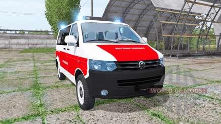 Volkswagen Transporter (T5) rettungsdienst для Farming Simulator 2017