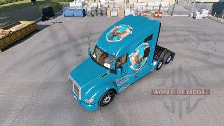 Скины Hogwarts Houses на тягач Kenworth T680 для American Truck Simulator
