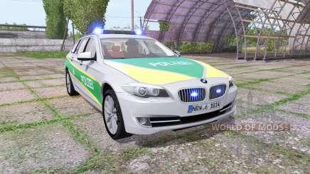 BMW 530d Touring (F11) polizei bayern для Farming Simulator 2017