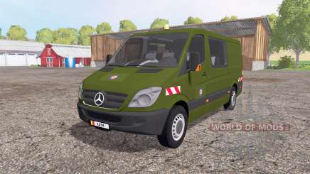 Mercedes-Benz Sprinter 211 CDI belgian army для Farming Simulator 2015