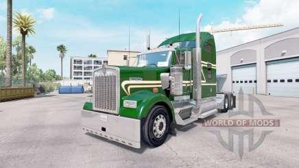 Скин Green Gold на тягач Kenworth W900 для American Truck Simulator