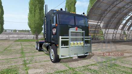 Kenworth K100 CabOver Caterpillar для Farming Simulator 2017