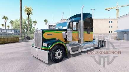 Скин JA.Emancipation Day на тягач Kenworth W900 для American Truck Simulator