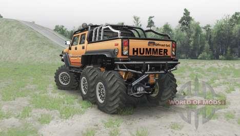 Hummer H2 6x6 orange для Spin Tires