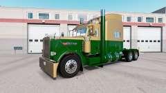 Скин Dark Gold Green на тягач Peterbilt 389