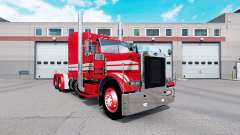 Скин Red Rollin Transport на тягач Peterbilt 379 для American Truck Simulator