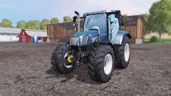 New Holland T6.160 front loader blue для Farming Simulator 2015