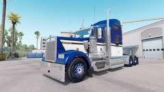 Скин Blue Yellow White на тягач Kenworth W900
