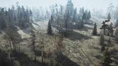 Лесные угодья v1.1 для MudRunner