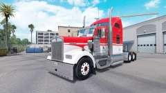 Скин White Red на тягач Kenworth W900