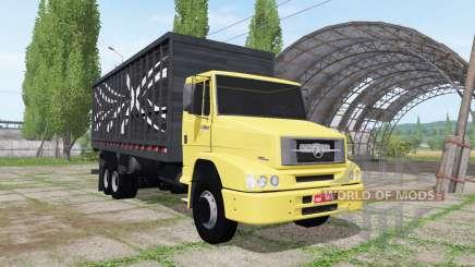 Mercedes-Benz L 1620 6x2 cattle transport для Farming Simulator 2017