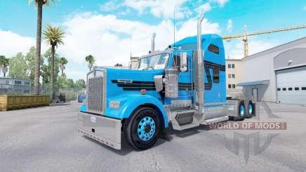 Скин Blue Black на тягач Kenworth W900 для American Truck Simulator