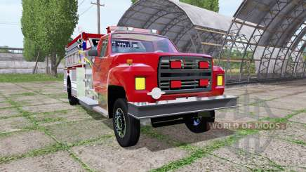 Ford F-700 fire truck для Farming Simulator 2017