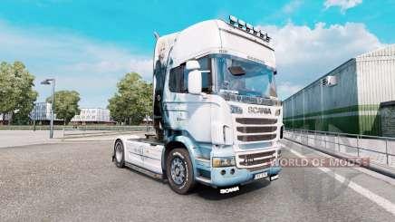 Скин Final Fantasy на тягач Scania R-series для Euro Truck Simulator 2
