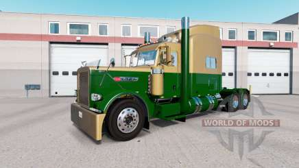Скин Dark Gold Green на тягач Peterbilt 389 для American Truck Simulator