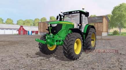 John Deere 6210R green для Farming Simulator 2015