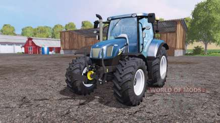 New Holland T6.160 front loader blue для Farming Simulator 2015
