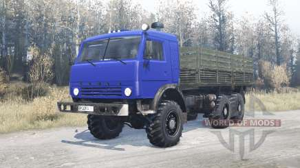 КамАЗ 43114 синий для MudRunner