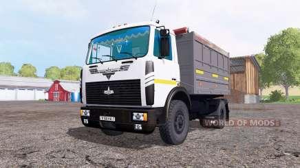 МАЗ 5551 белый для Farming Simulator 2015
