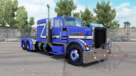 Скин Blue Rollin на тягач Peterbilt 379 для American Truck Simulator