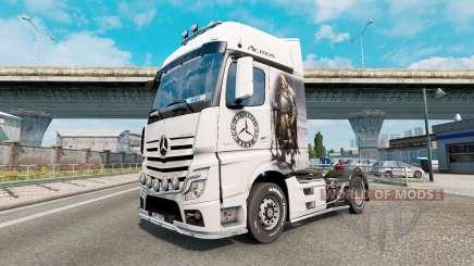 Скин Viking Warrior на Mercedes-Benz Actros MP4 для Euro Truck Simulator 2
