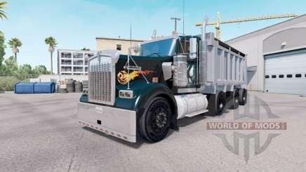 Kenworth W900 dump truck v1.1 для American Truck Simulator