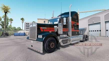 Скин Big Black на тягач Kenworth W900 для American Truck Simulator