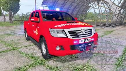 Toyota Hilux Double Cab 2011 feuerwehr v1.1 для Farming Simulator 2017