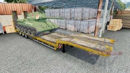 Semitrailer with cargo T-34-85 для Euro Truck Simulator 2