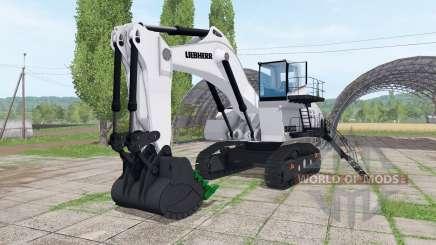 Liebherr R 9200 backhoe attachment v1.1 для Farming Simulator 2017