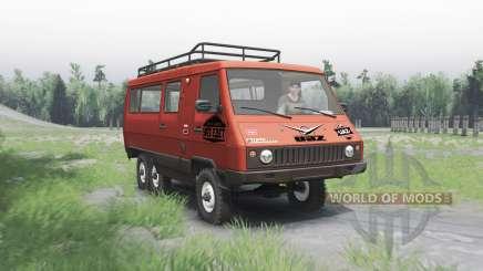 УАЗ 3972 опытный 1990 6x6 v1.1 для Spin Tires