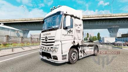 Скин Iron Maiden на Mercedes-Benz Actros MP4 для Euro Truck Simulator 2