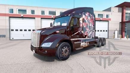 Скин Attack on Titan на тягач Peterbilt 579 для American Truck Simulator