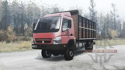 Mitsubishi Fuso Canter (FE7) red для MudRunner