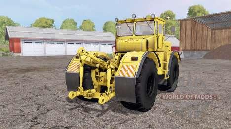 Кировец К 700А жёлтый 4x4 для Farming Simulator 2015