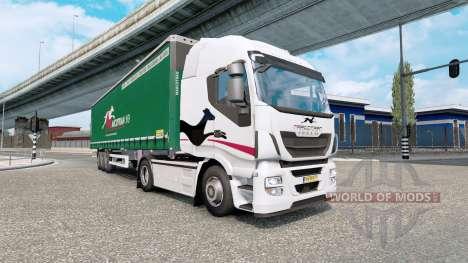 Painted truck traffic pack v4.5 для Euro Truck Simulator 2