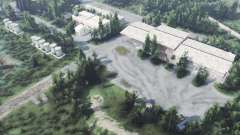 Заброшенная военная база v1.1 для Spin Tires